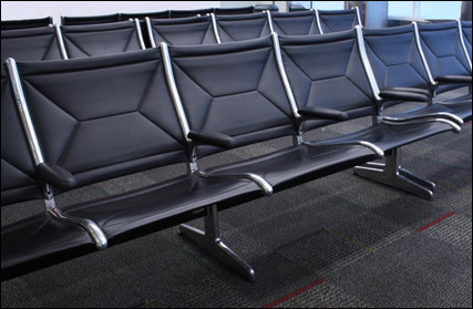 Eames tandem seating as designed for O'Hare airport