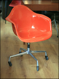 Eames fibreglass armchair 1968 to date