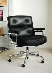 Swiss Lobby chair in black
