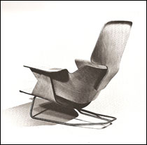 Eames lounge chair prototype