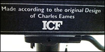 ICF - made according to the original design of Charles Eames