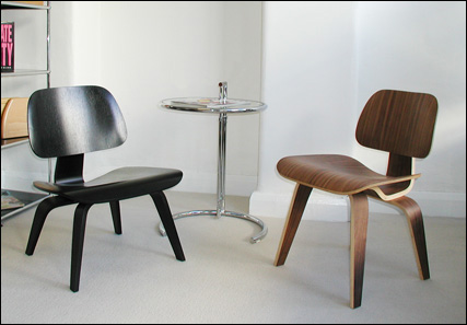 Chinese Eames moulded plywood chairs