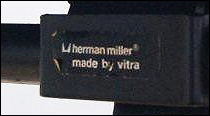 Herman Miller made by Vitra chair label