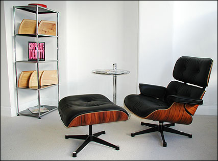 Chinese Eames lounge chair and ottoman